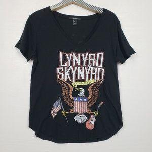 Forever 21 Graphic Band Tee Lynrd Skynyrd